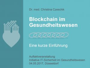 Blockchain-Folien Titelseite
