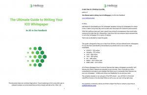 ICO Whitepaper Template and Guide Screenshot 1