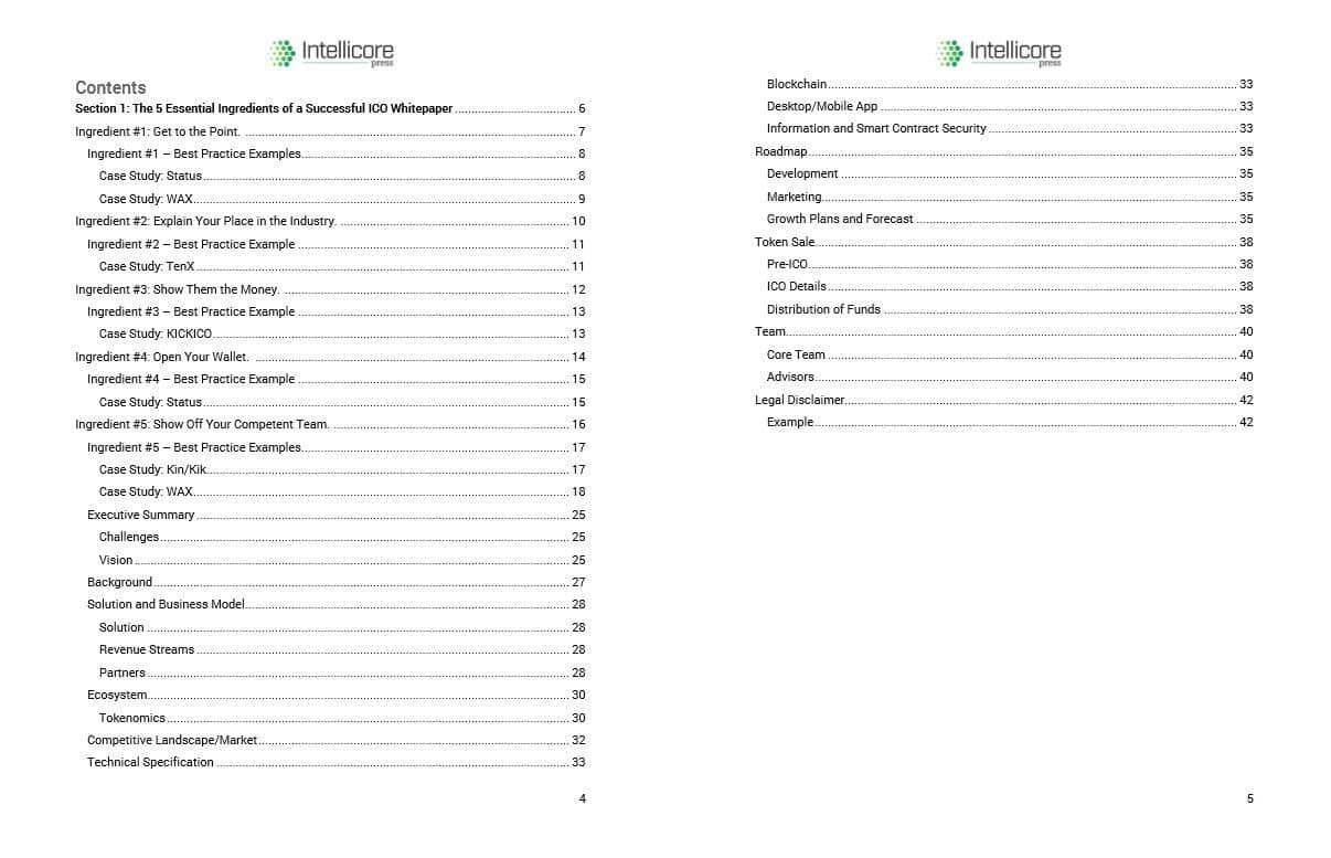 The Ultimate Ico Whitepaper Template Guide Intellicore Press
